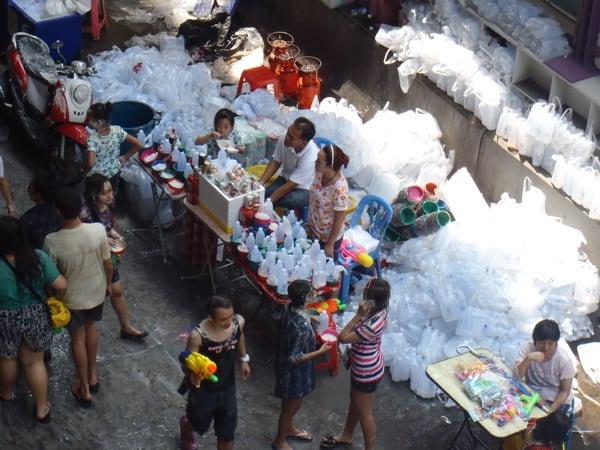 songkran - bangkok, thailand