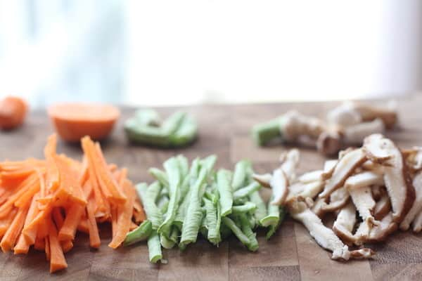 Ingredients for Vegetarian Baked Spring Rolls