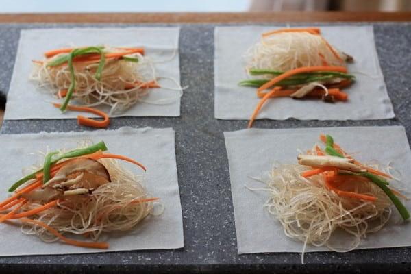 Filling Vegetarian Baked Spring Rolls