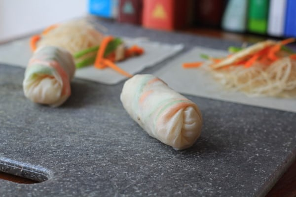 Ready to Bake Spring Rolls filled with veggies