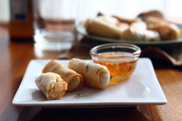 Baked Vegetarian Spring Rolls // Inquiring Chef