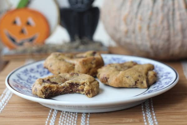 Chewy Pumpkin Chip Chocolate Cookies