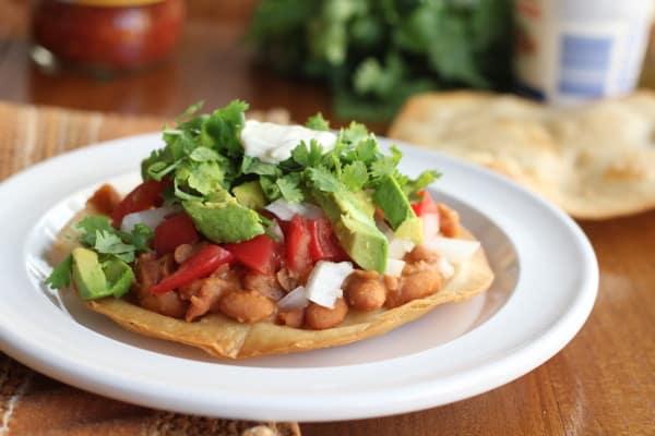 Crispy Vegetarian Tostadas - Inquiring Chef