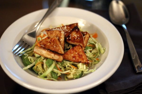 Glazed Sesame Tofu and Avocado Salad with Miso Dressing - Inquiring ...