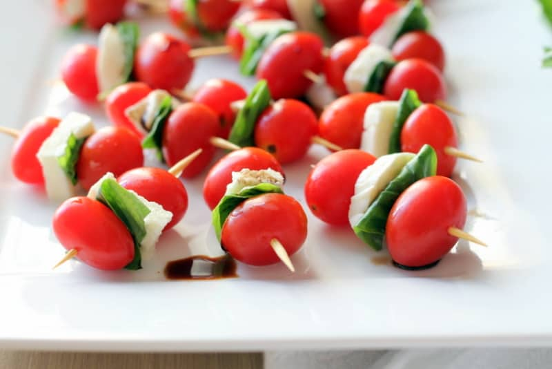 Caprese Skewers - An Easy Summer Appetizer - Inquiring Chef