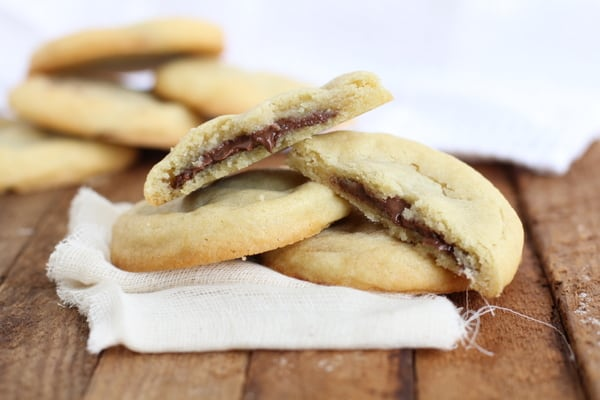 Nutella stuffed cookies with a delicious gooey center