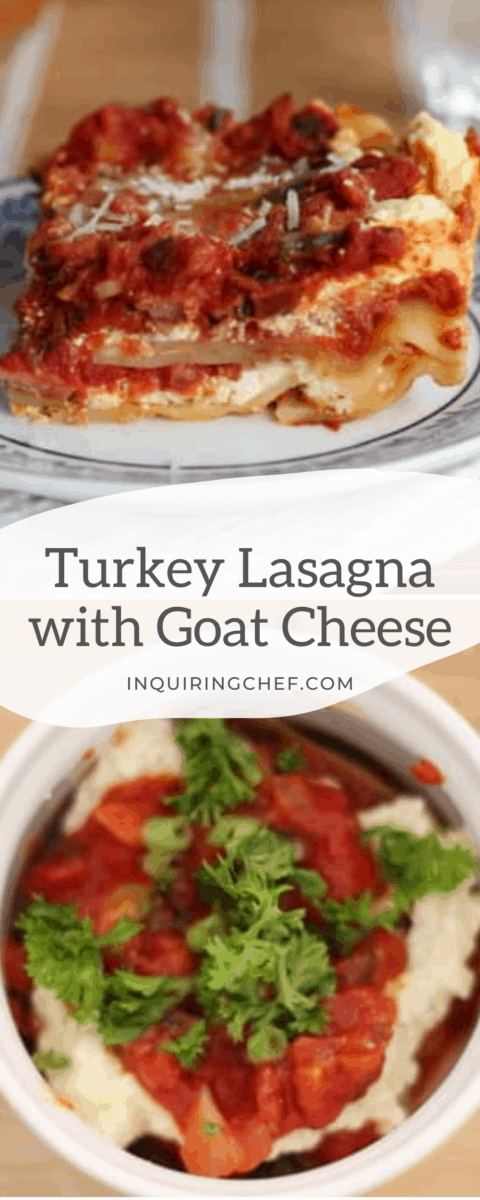 turkey lasagna with goat cheese