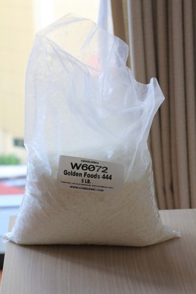 a bag of soy wax