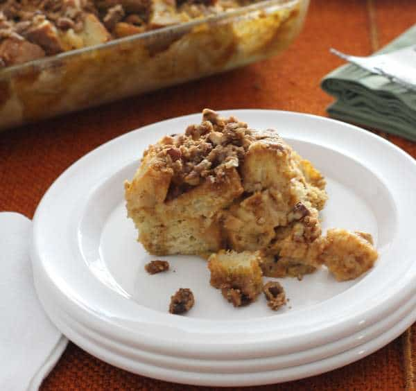 Baked Pumpkin French Toast - Inquiring Chef