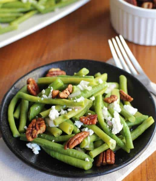 Green Beans with Spiced Pecans and Goat Cheese :: Inquiring Chef