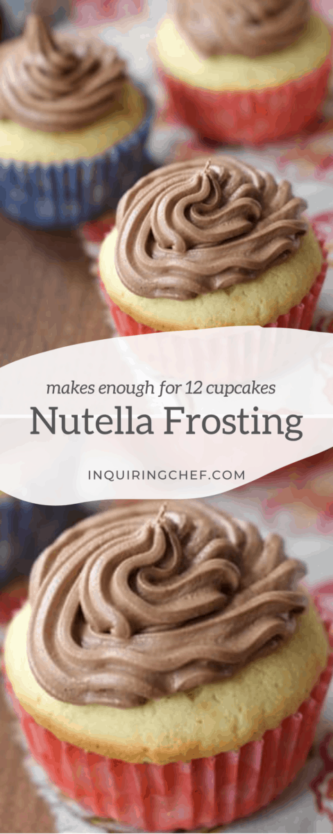 nutella frosting on cupcakes
