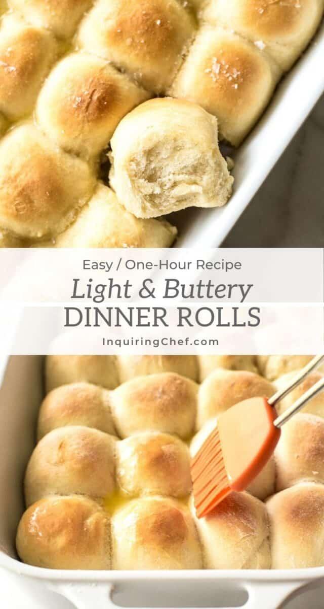 1 hour light and butter dinner rolls
