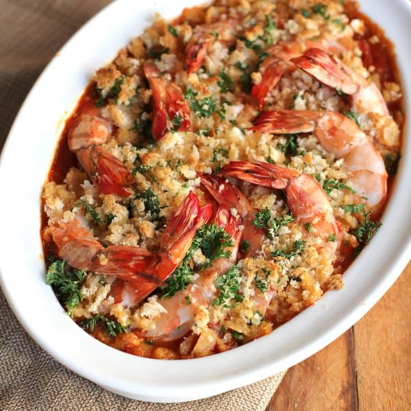 roasted shrimp with feta - inquiring chef