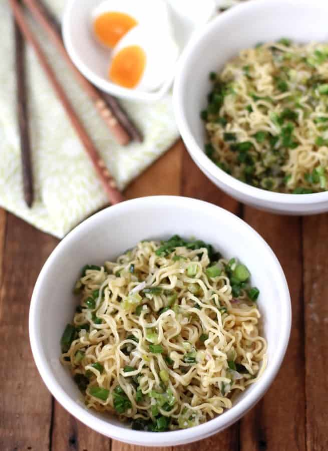 Ginger Scallion Ramen Noodles in a bowl