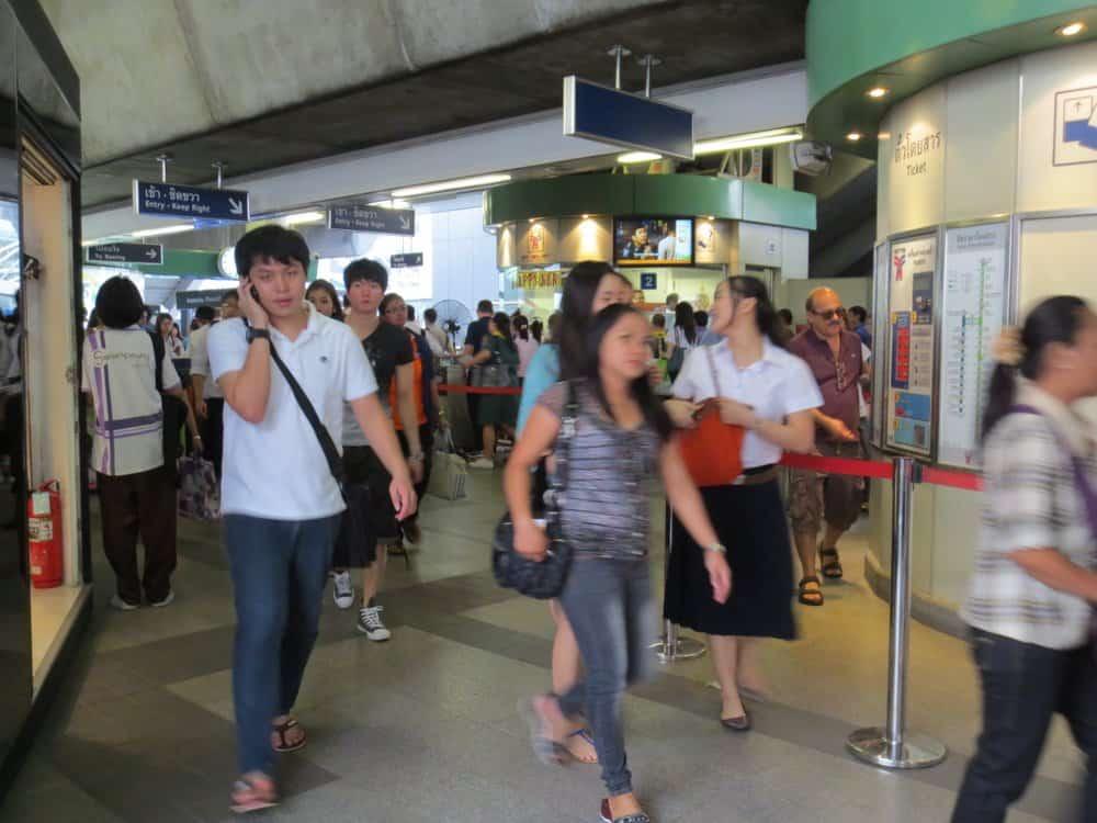 Bangkok BTS Station Exit