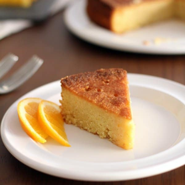 Lemon Almond Polenta Cake