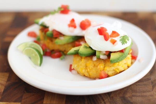 Top these sweet mexican corn cakes with salsa, avocado and poached ...