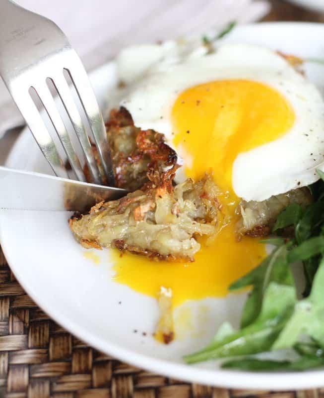 Crispy Skillet Potato Hash with Fried Eggs: Inquiring Chef