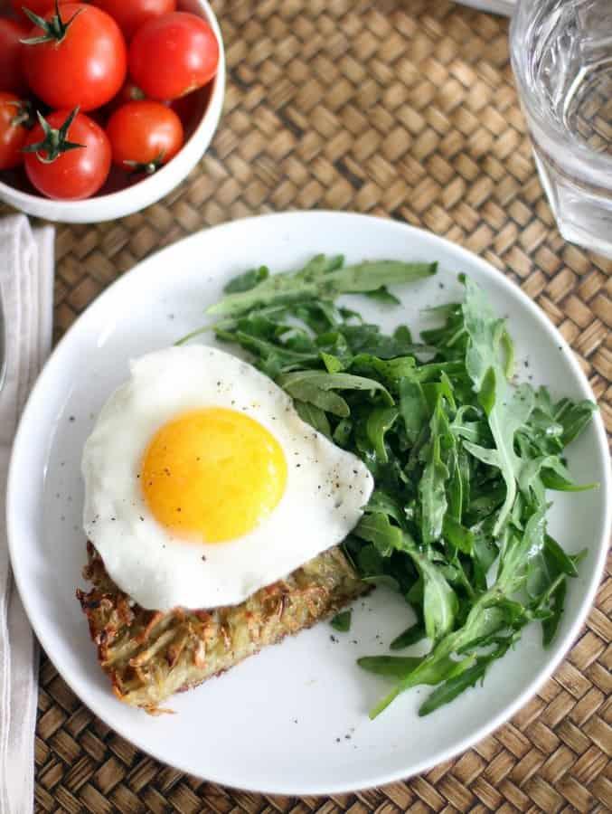 Crispy Skillet Potato Hash with Fried Eggs:: Inquiring Chef