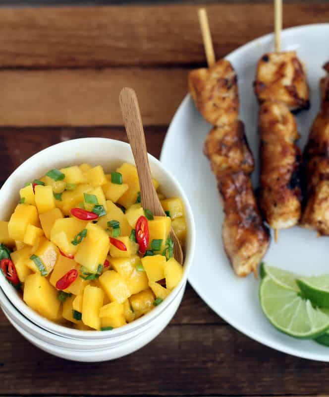Cilantro Chicken Skewers With Mango Salsa Recipes — Dishmaps
