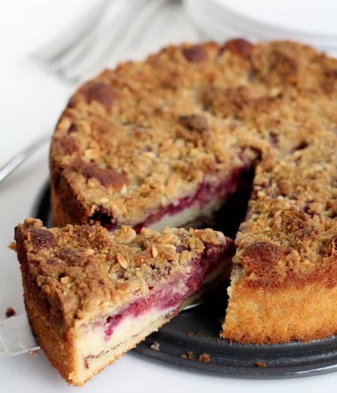 Raspberry Almond Coffee Cake - Inquiring Chef