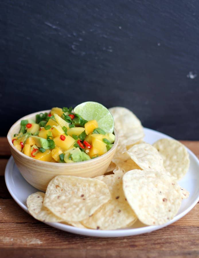 Sweet and Spicy Mango Avocado Salad