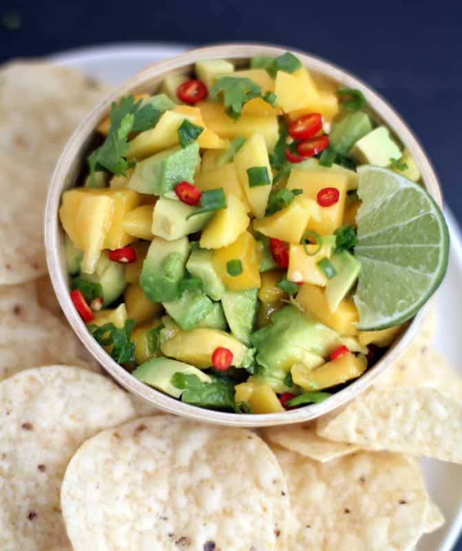 Sweet and Spicy Mango-Avocado Salsa - Inquiring Chef