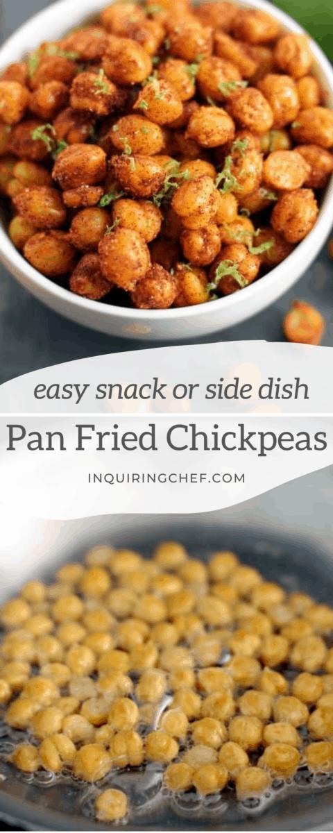 pan fried chickpeas