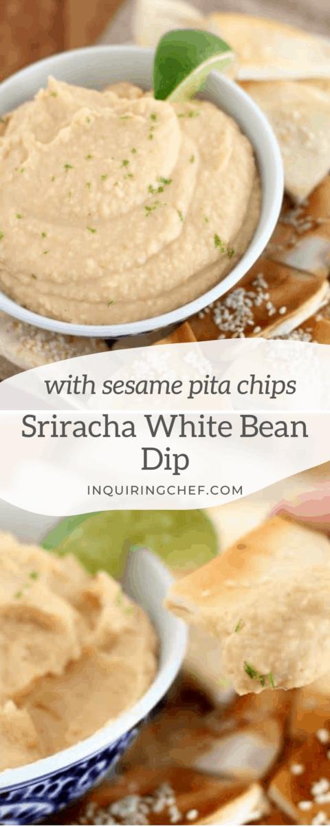 sriracha white bean dip
