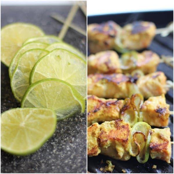 Thai-Style Grilled Salmon Satay with Lime