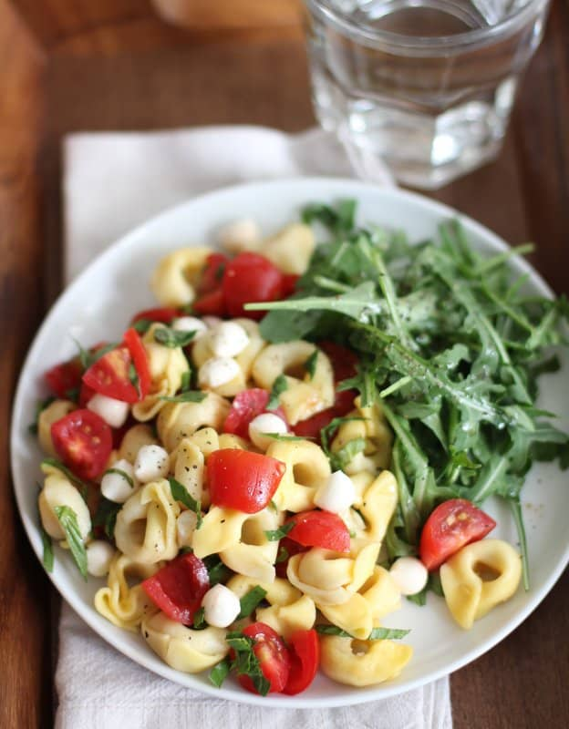 Tortellini Pasta Salad with Tomato Basil and Mozzarella :: Inquiring Chef