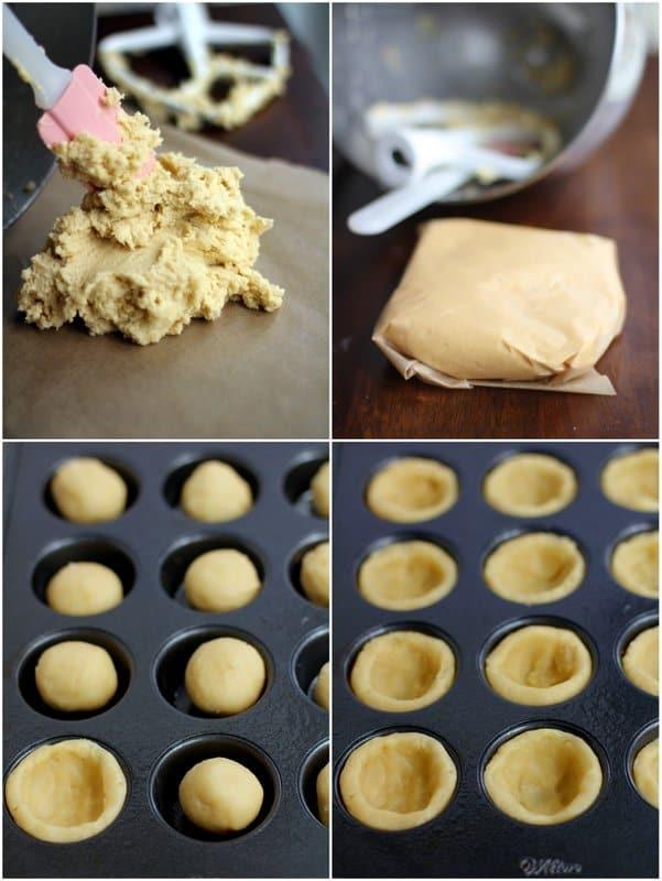 making sugar cookie tart shells