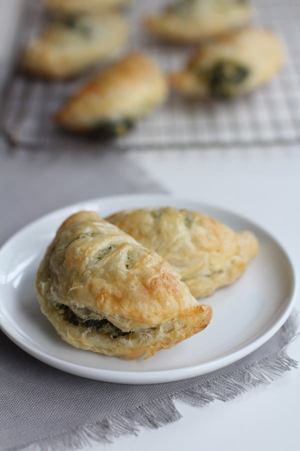 Hand Pies on a white plate
