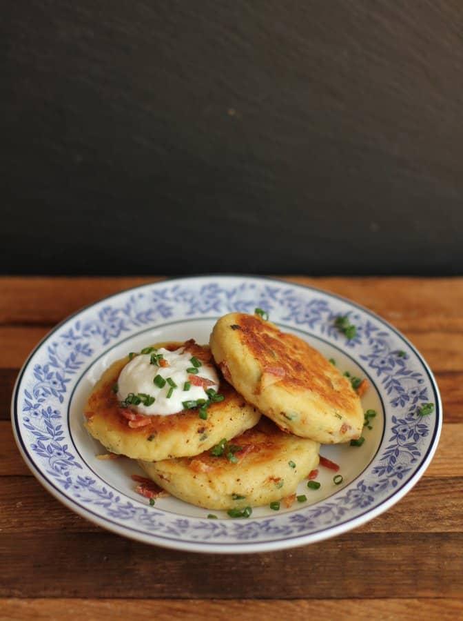 loaded potato pancakes