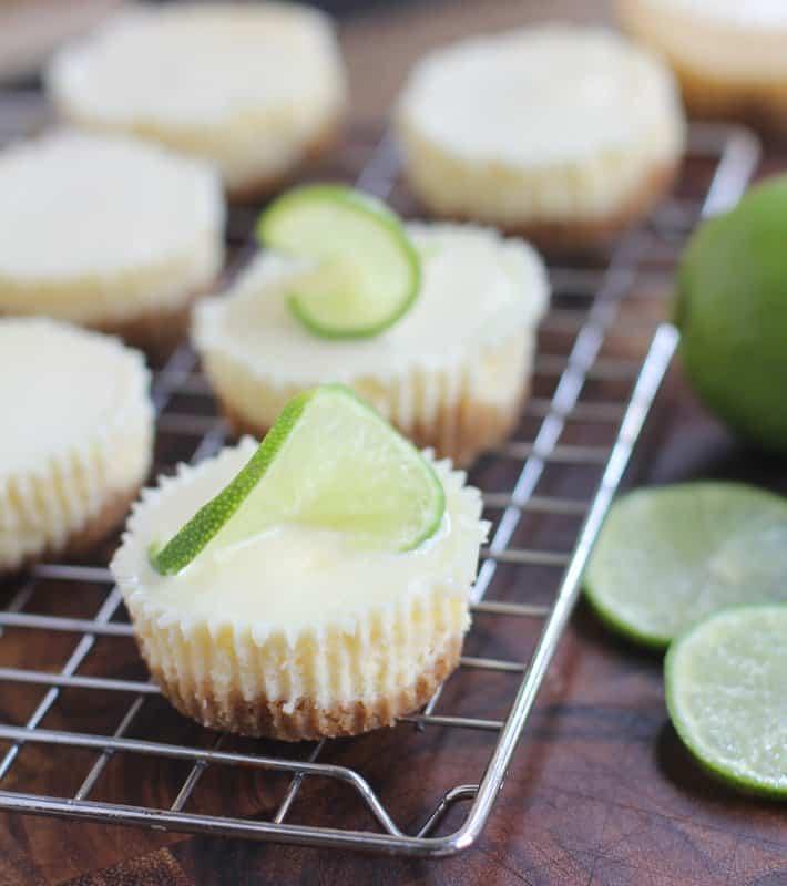 Mini Lime Cheesecakes