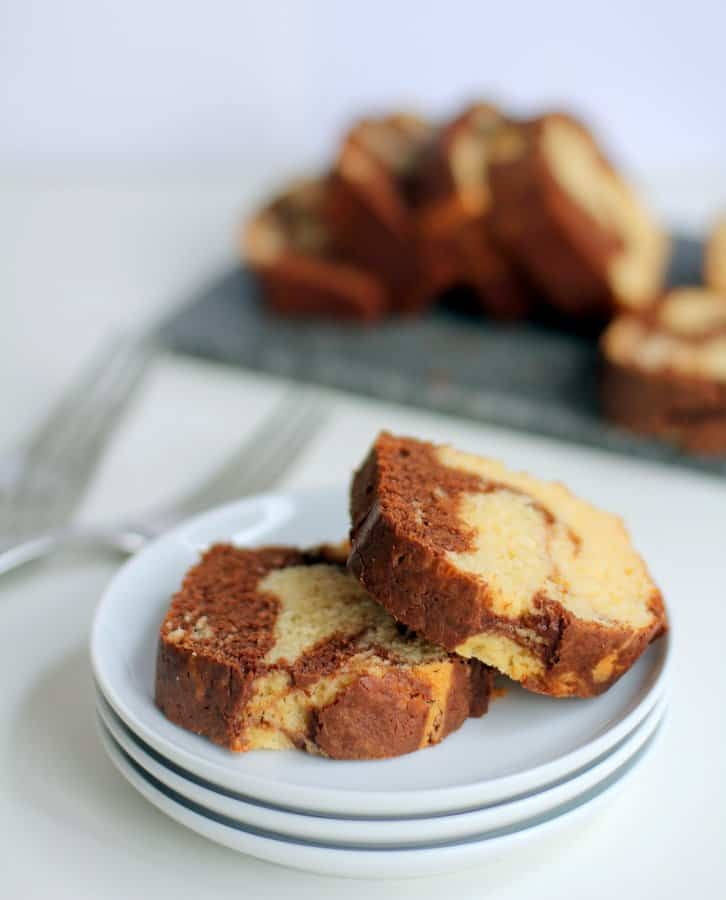 quick bread on a white plate