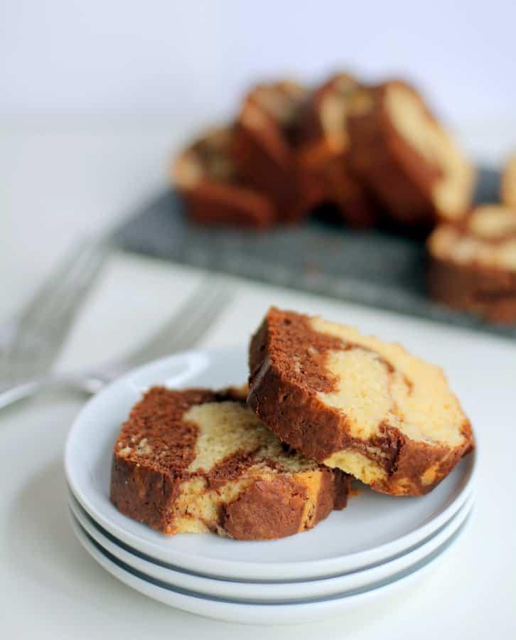 Chocolate Vanilla Marbled Bread