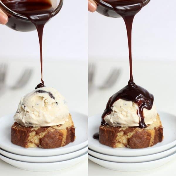 Marbled Bread Ice Cream Sundae