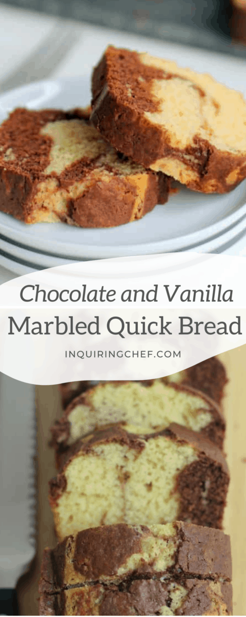 marbled quick bread