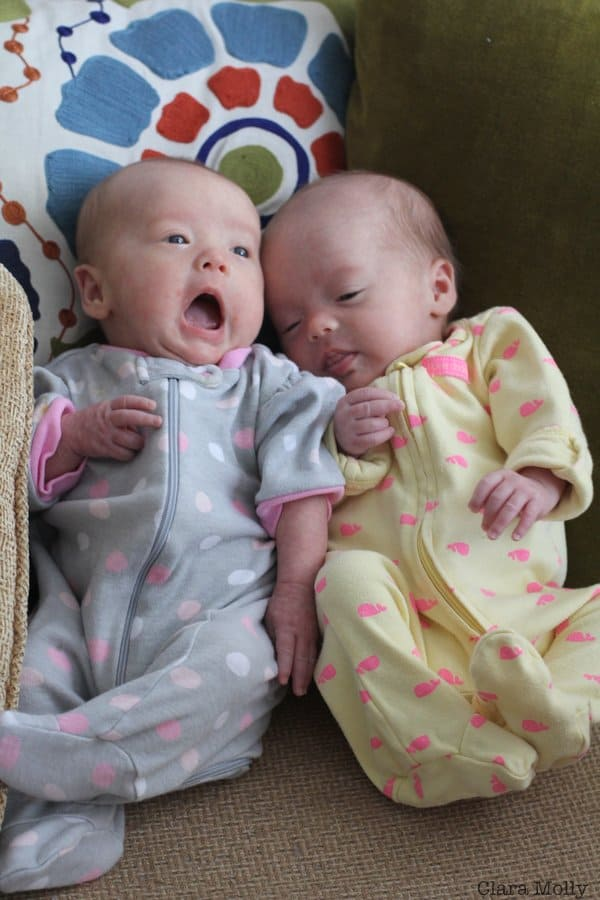 Molly and Clara - Month 2