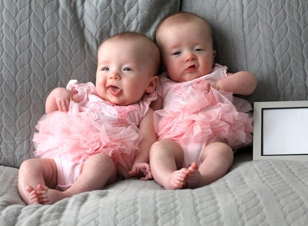 Molly and Clara 4 months