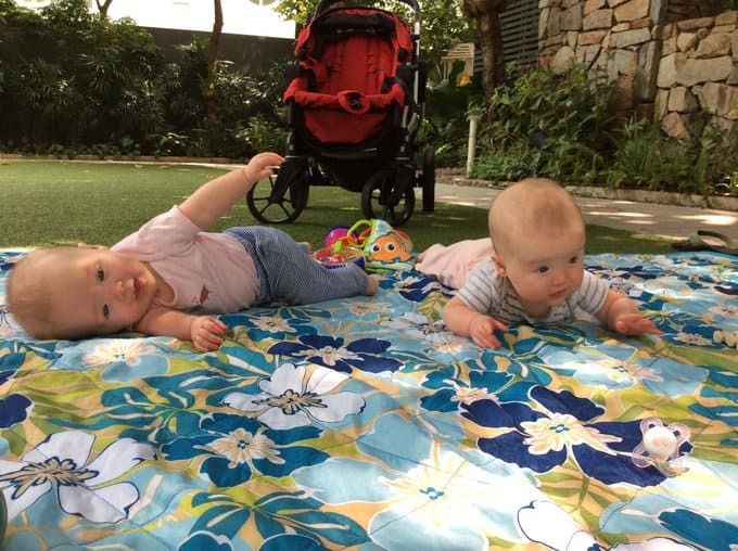 Clara and Molly_Rolling_6 Months