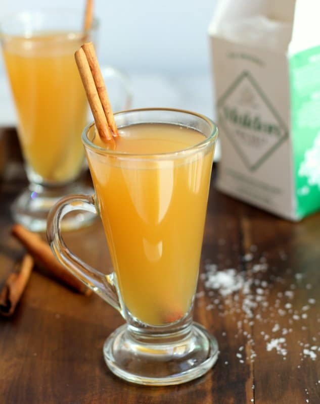 Salted Caramel Apple Cider for Easy Thanksgiving Potluck