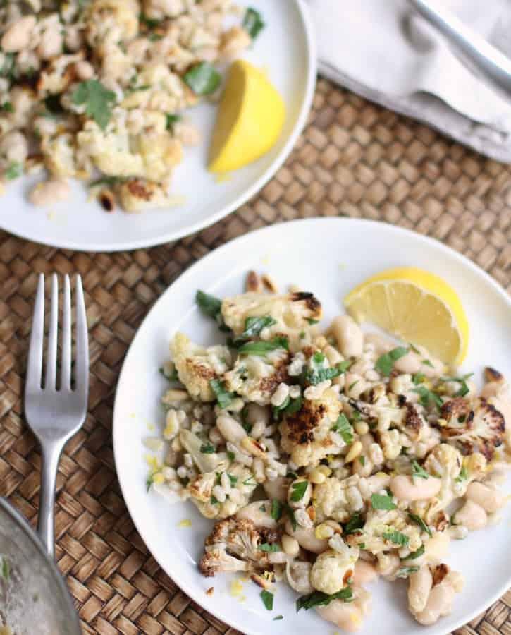 Warm Cauliflower and Herbed Barley Salad