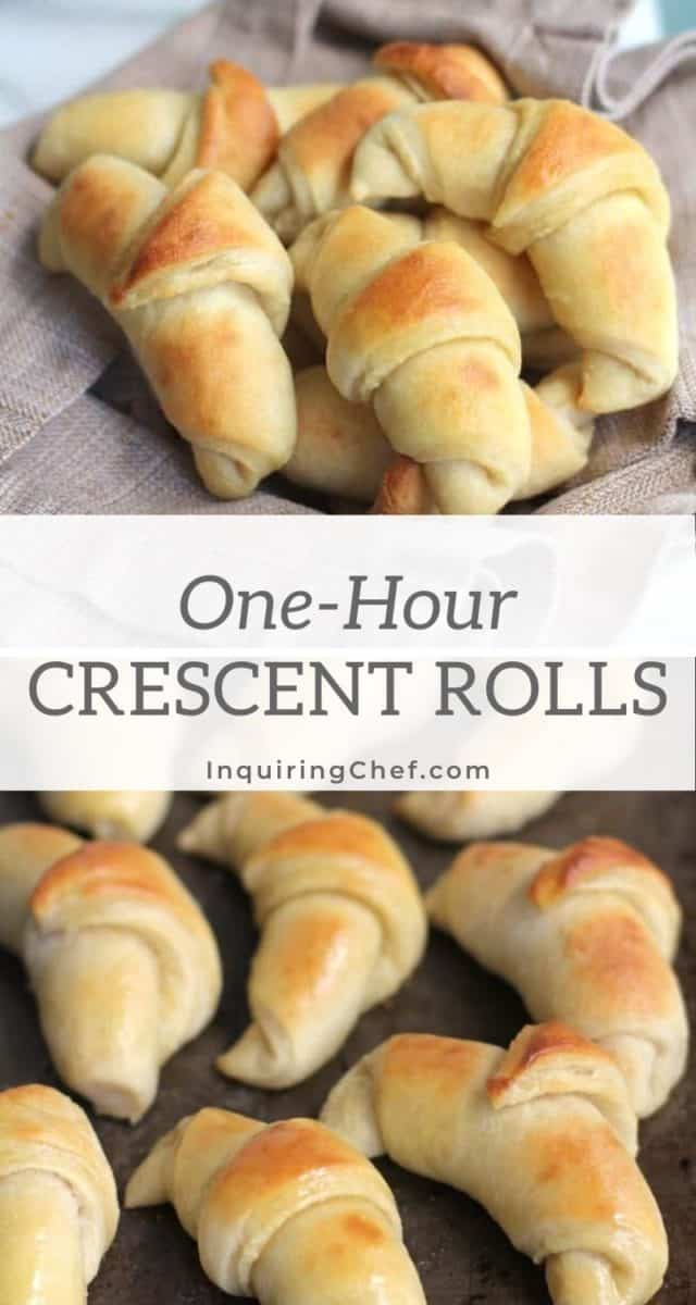 one hour crescent rolls