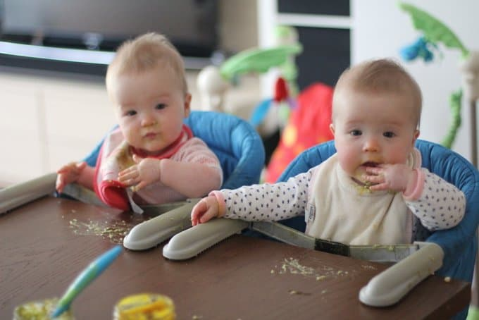 Molly and Clara 8 Months