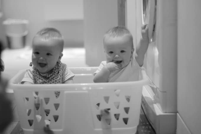 Molly and Clara_Laundry Basket 9 Months