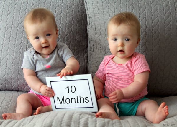 10 Months _Molly and Clara
