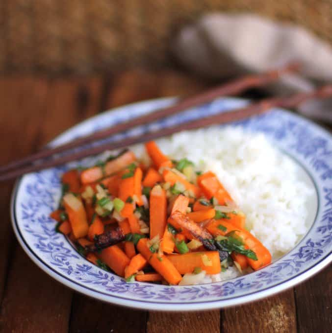 Ginger Scallion Carrots