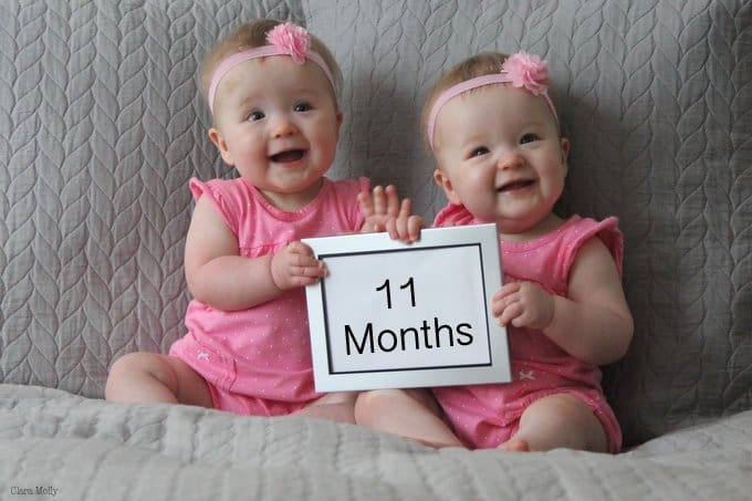 Clara and Molly 11 Months